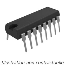 Additionneur bin. 4 bits  74F283  DIL-16