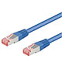 CORDON RESEAU FTP BLINDEE CAT6 BLEU 15M