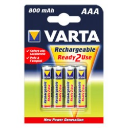 4 ACCUS R03 800 mAh VARTA POWER PLAY 800