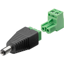 BORNIER ALIMENTATION 2 PIN DC MALE