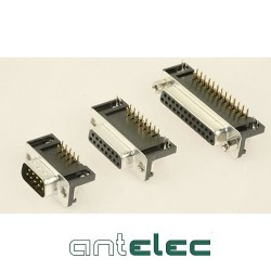 ANTELEC SUB-D MALE 9P CI COUDEE+HARPONS