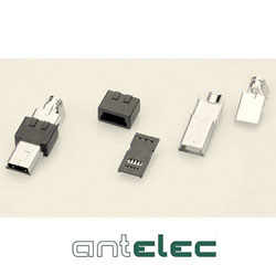 ANTELEC MINI USB B MALE 5 PTS A SOUDER