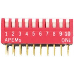 INTER DIP SWITCH PIANO APEM 10 CONTACTS