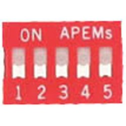 INTER DIP SWITCH APEM 5 CONTACTS