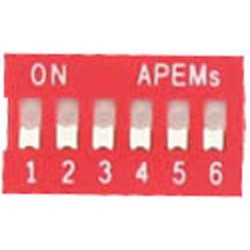 INTER DIP SWITCH APEM 6 CONTACTS
