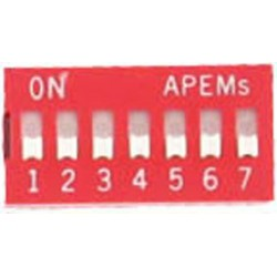 INTER DIP SWITCH APEM 7 CONTACTS