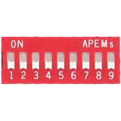 INTER DIP SWITCH APEM 9 CONTACTS
