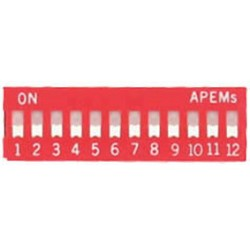 INTER DIP SWITCH APEM 12 CONTACTS