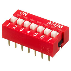 INTER DIP SWITCH APEM 7 CONTACTS NDS