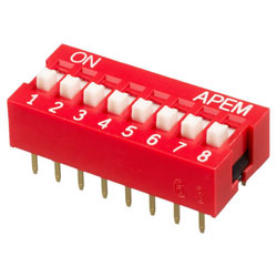INTER DIP SWITCH APEM 8 CONTACTS NDS