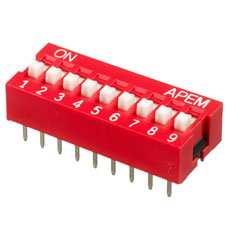 INTER DIP SWITCH APEM 9 CONTACTS NDS
