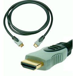 CORDON HDMI GOLD 18 BROCHES 1m-1m80