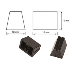 BOUTON RECTILIGNE 10 x 15 x 10 mm