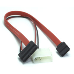 CABLE ALIMENTATION MOLEX-SATA 50cm