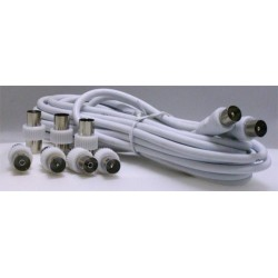CORDON COAX. 9,52mm M/M+7 ADAPT. DIVERS
