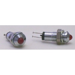 VOYANT LED 3mm ROUGE CHROME-- 2 PIECES