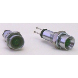 VOYANT LED 3mm VERT CHROME-- 2 PIECES