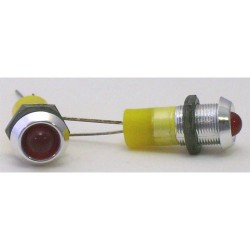 VOYANT LED 5mm ROUGE--6Vdc----5 PIECES