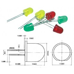 LED DIAMETRE 10mm STANDARD ROUGE