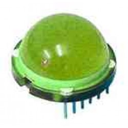 LED DIAMETRE 20mm STANDARD VERTE 80mcd