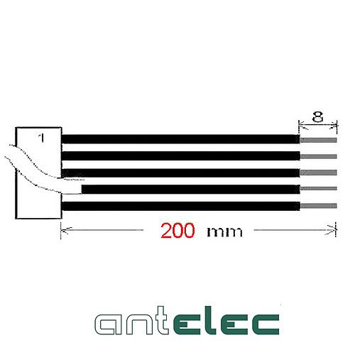 ANTELEC CONNECT.MALE PRE-CABLE 2x5P 3,00