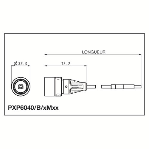 BULGIN PXP6040/B/3M00 CABLE USB BM-AM 3M